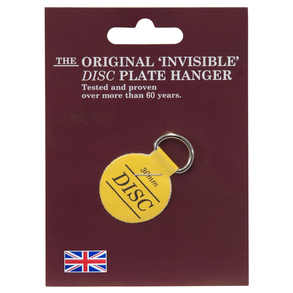 The Original Invisible Adhesive Disc Plate Hanger 30mm
