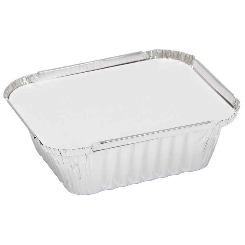 Caroline Foil Trays with Lids, 103x129x41mm, Pack of 10 (1001)