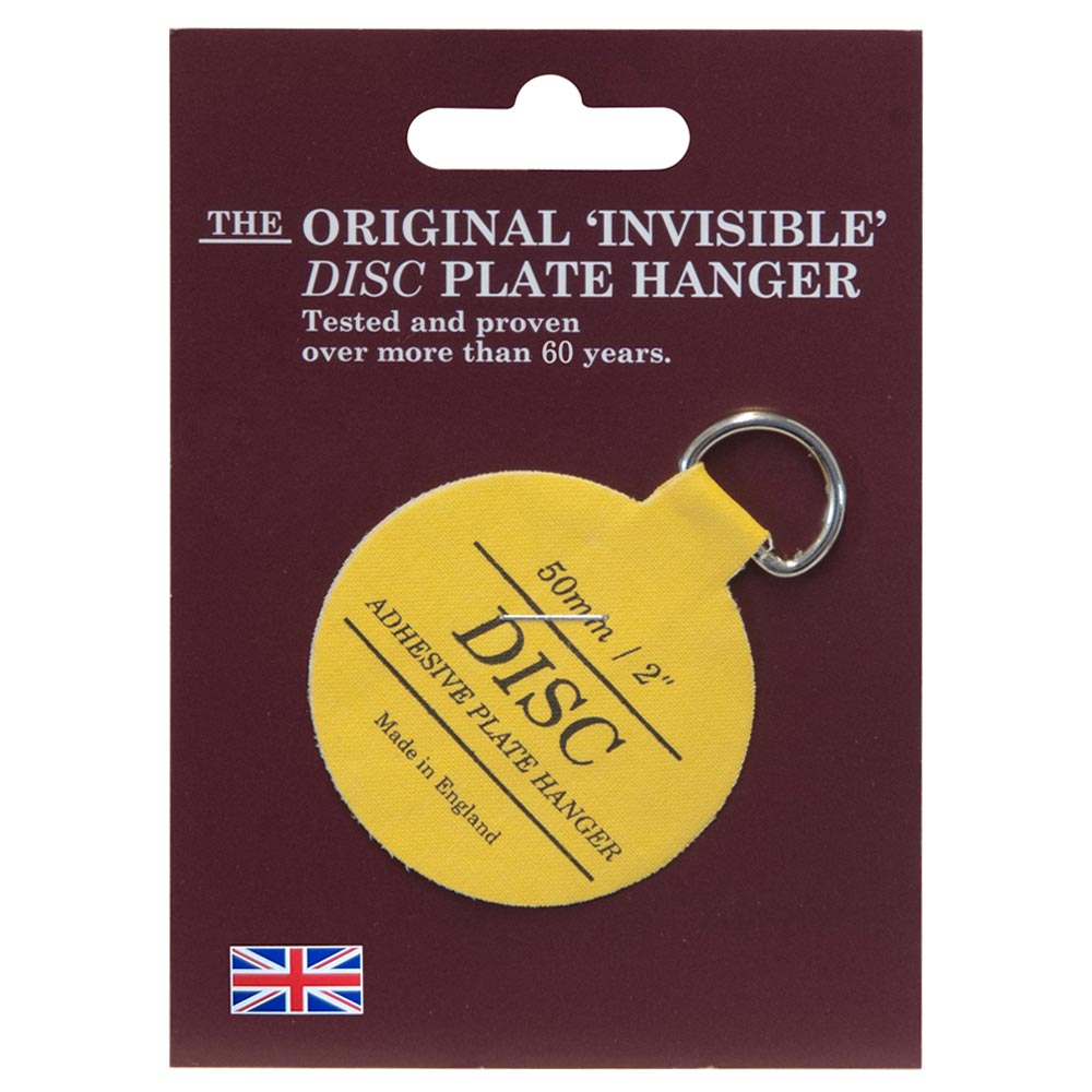 The Original Invisible Adhesive Disc Plate Hanger 50mm