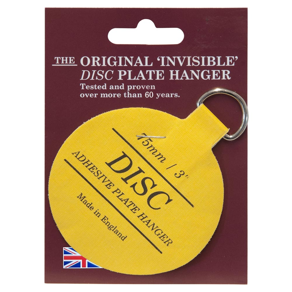 The Original Invisible Adhesive Disc Plate Hanger 75mm