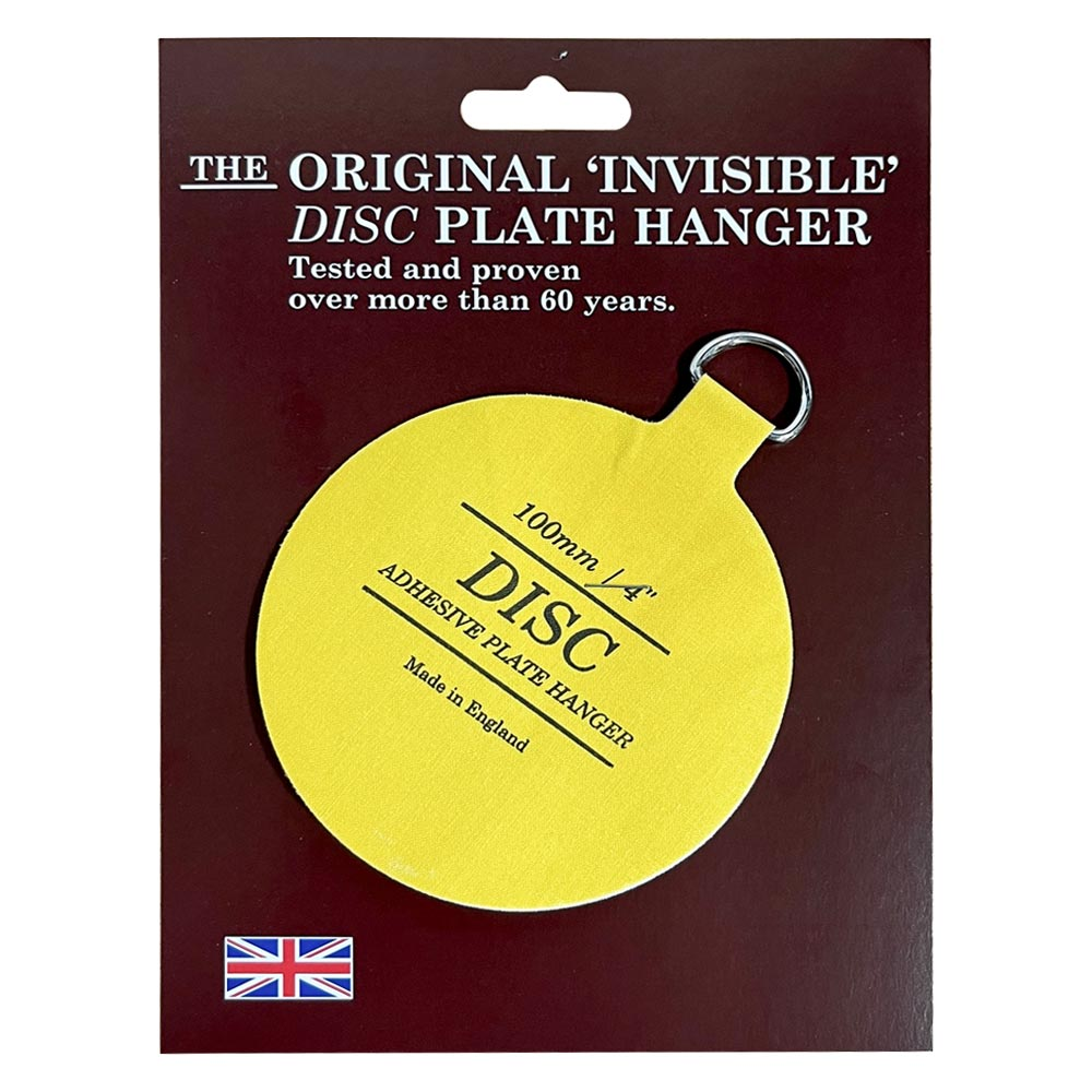 The Original Invisible Adhesive Disc Plate Hanger 100mm