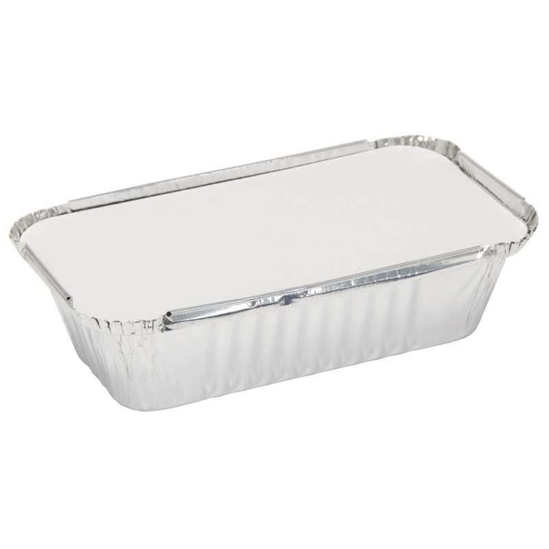 Caroline Foil Trays with Lids, 93x184x49mm, Pack of 6 (1002)