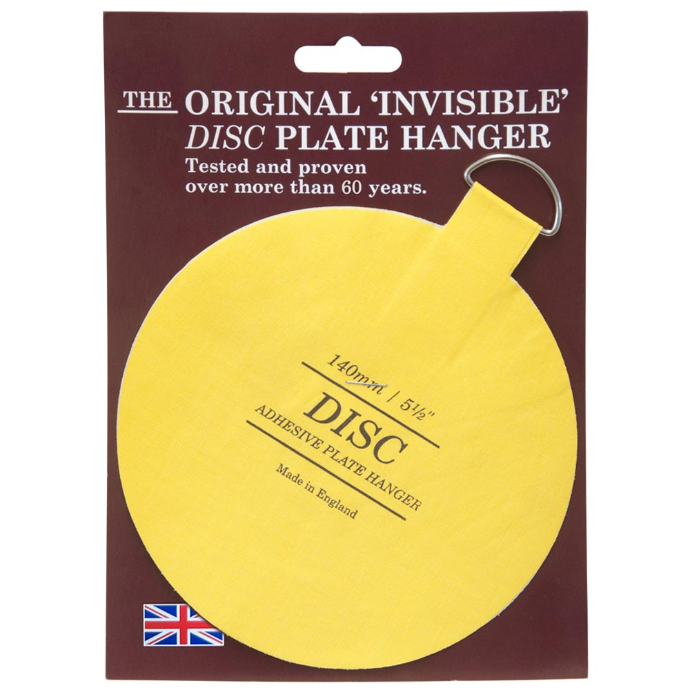 The Original Invisible Adhesive Disc Plate Hanger 140mm