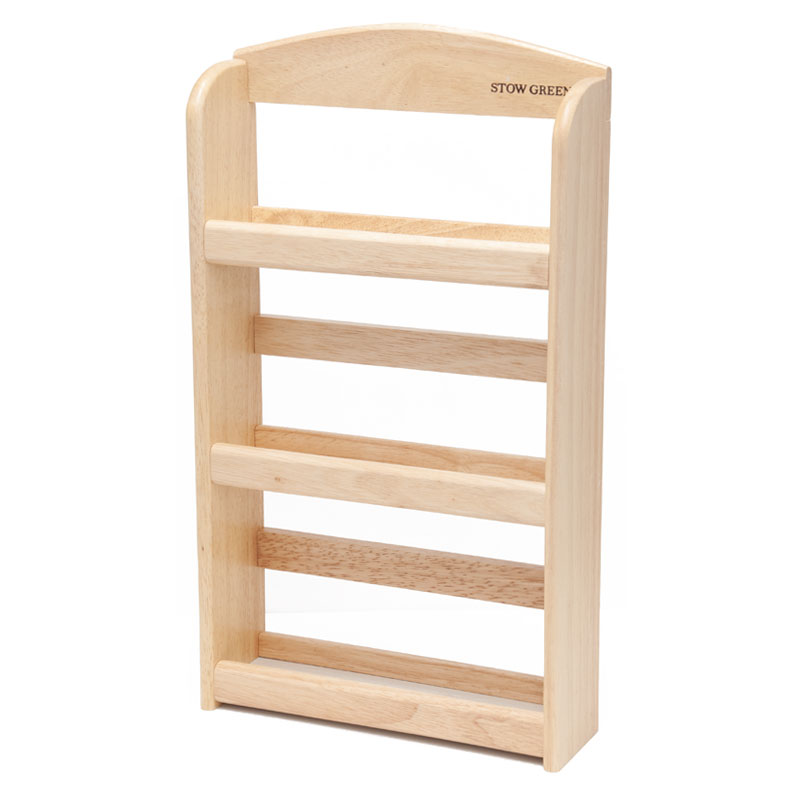 Stow Green 3 Tier Wooden Spice Rack, 44cm X 25cm