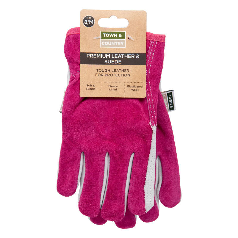 Town & Country Workshop Gloves Size 6-7 Suede - TGL114S