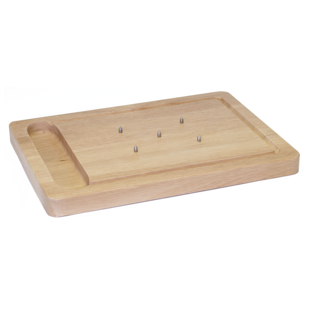 Wooden Spiked Carving Board - Stow Green