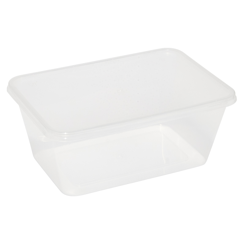 Caroline Plastic Trays With Lids 1000ml, Pack of 4 (2005)