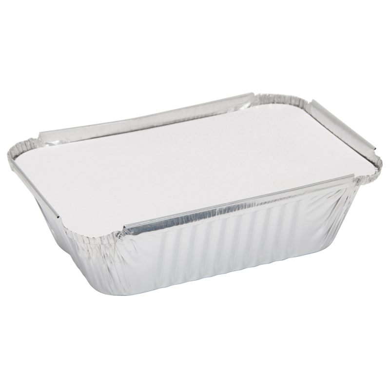 Caroline Foil Trays with Lids, 139x203x45mm, Pack of 4 (1004)
