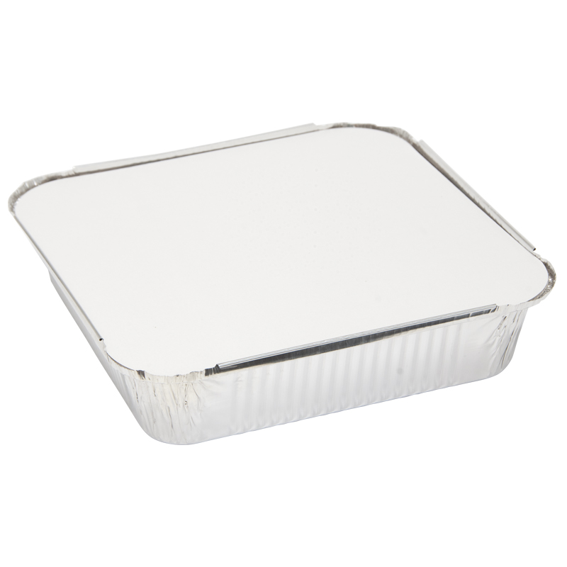 Caroline Foil Trays with Lids, 240x240x55mm, Pack of 5 (1008)