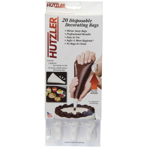 Hutzler 20 Disposable Icing Bags