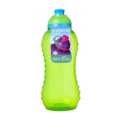 Sistema Hydrate Twist'n'Sip Squeeze Bottle, 330ml, Assorted Colours