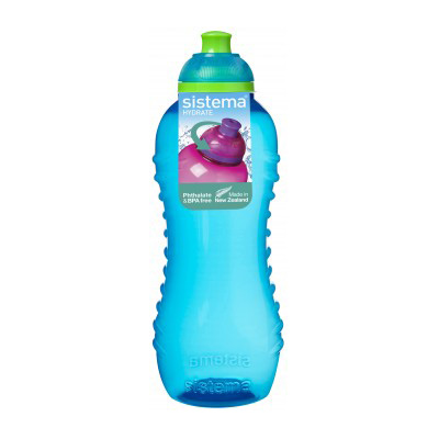 Sistema Hydrate Twist'n'Sip Squeeze Bottle, 460ml, Assorted Colours