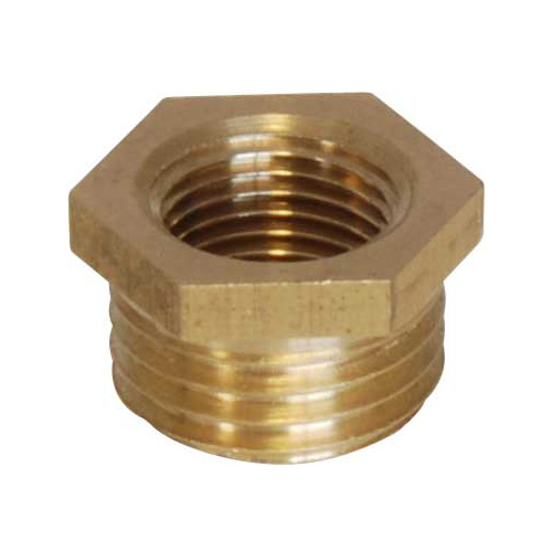 Brass Bush - 1/4 BSP Male to 1/8 BSP Female