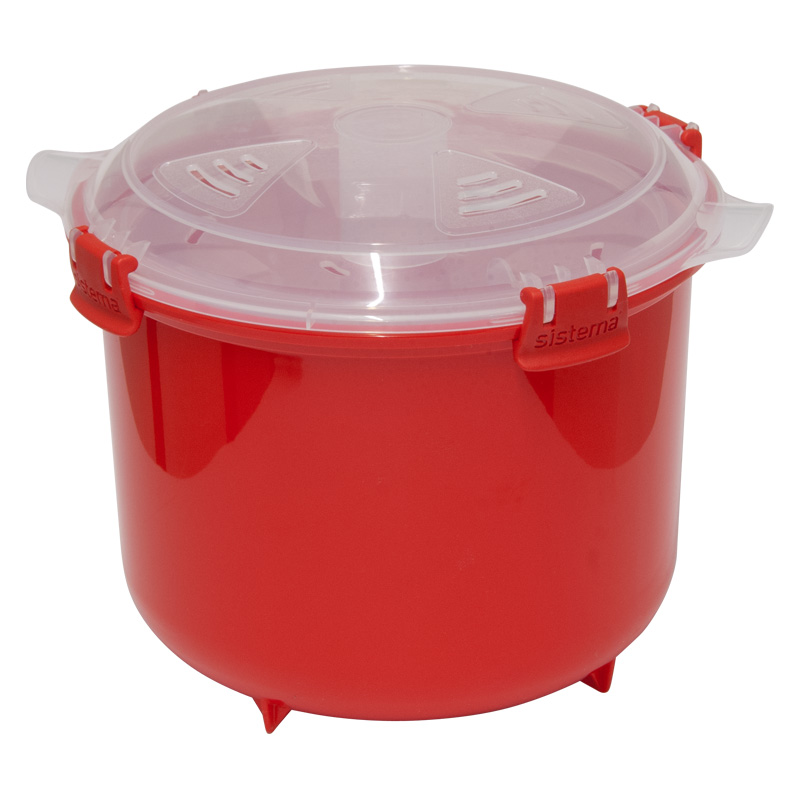 Sistema Microwave Rice Steamer, Red, 2.6 Litre