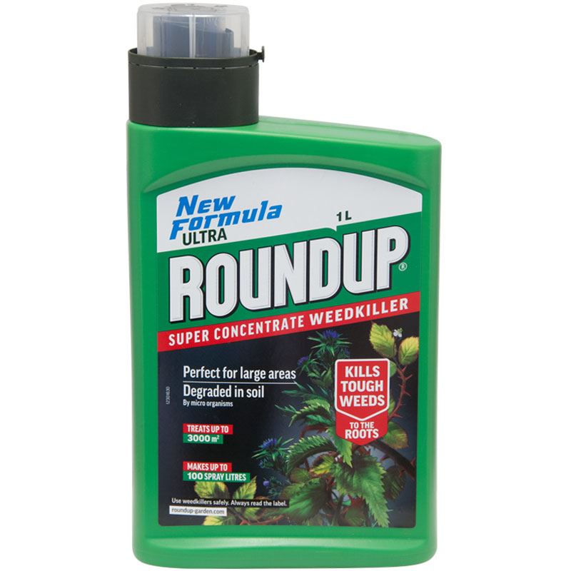 Roundup Ultra Super Concentrate Weedkiller - 1 litre