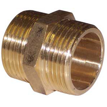 Brass Hexagon Nipple 1/4 BSP