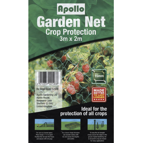 Apollo Garden Net Crop Protection 3m x 2m