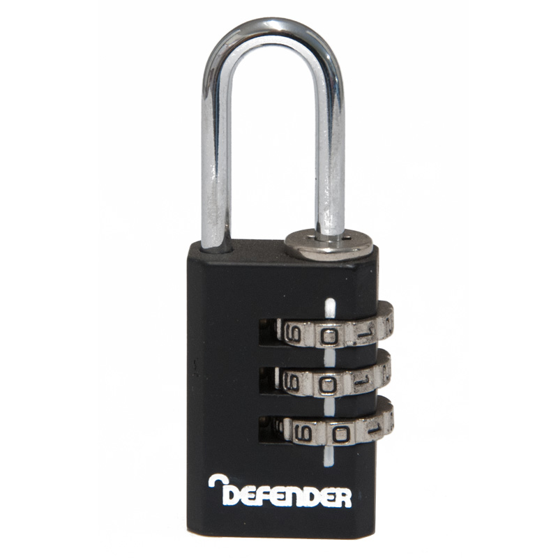 Defender 3 Wheel Combination Luggage Padlock (DFCOMBI20)