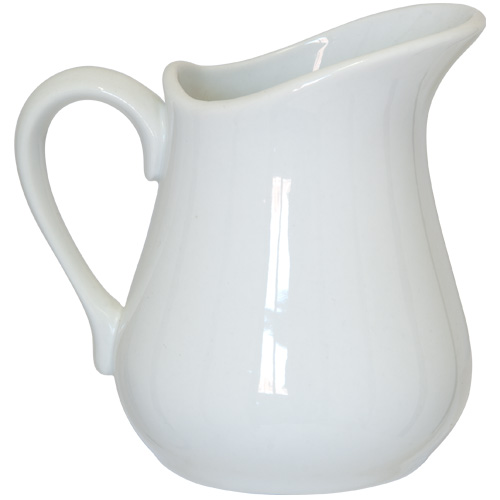 Apollo Milk Jug - 250ml White China Jug - 2393