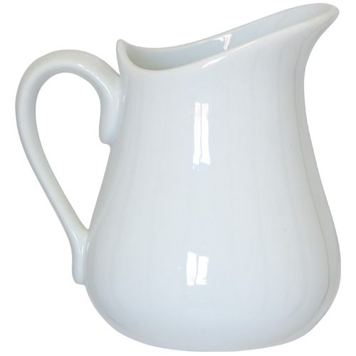 Apollo Jug - 500ml White China Jug - 4008