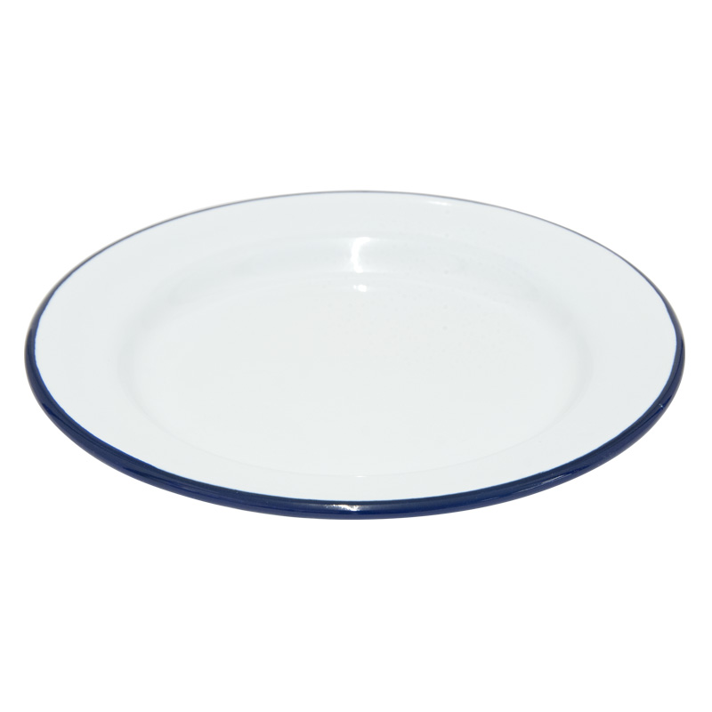 Falcon Enamelware White Dinner Plate, 20cm Diameter (45020)