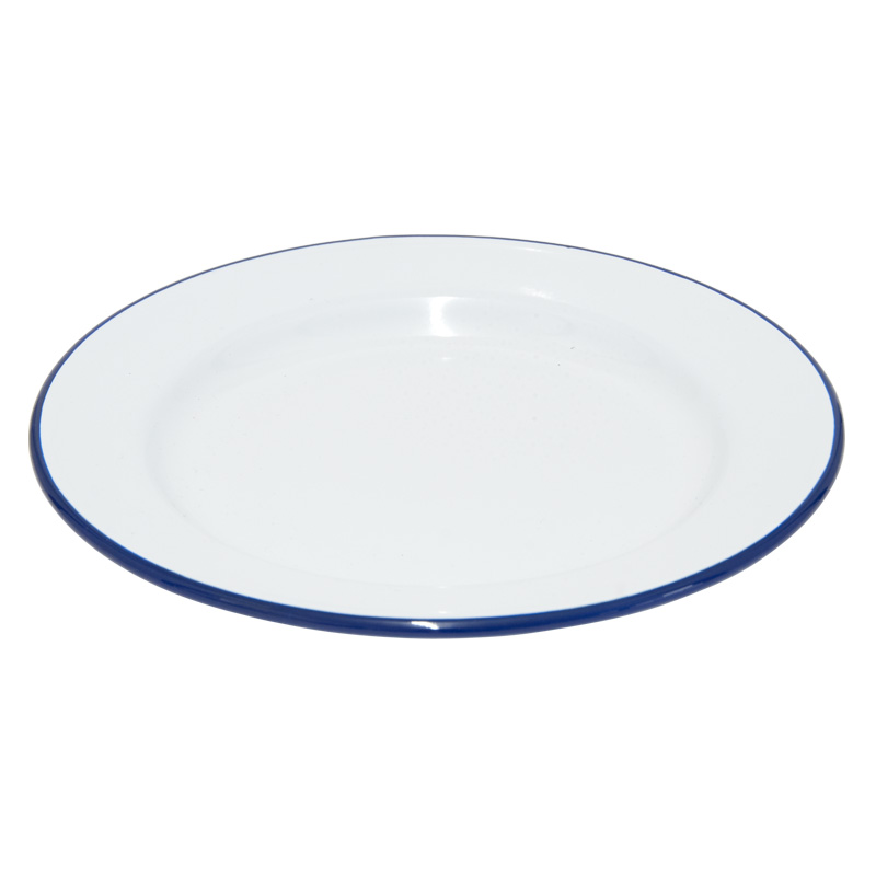 Falcon Enamelware White Dinner Plate, 22cm Diameter (45022)