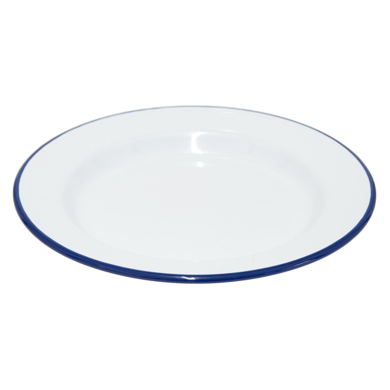 Falcon Enamelware White Dinner Plate, 24cm Diameter (45024)