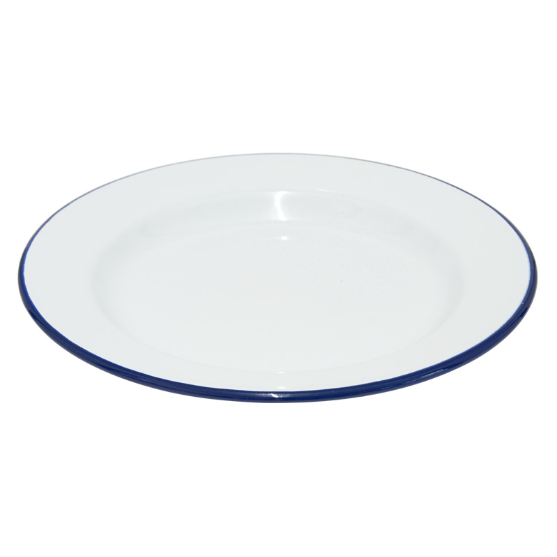 Falcon Enamelware White Dinner Plate, 26cm Diameter (45026)