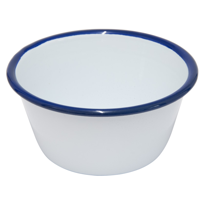Falcon Enamelware White Pudding Basin, 12cm Diameter