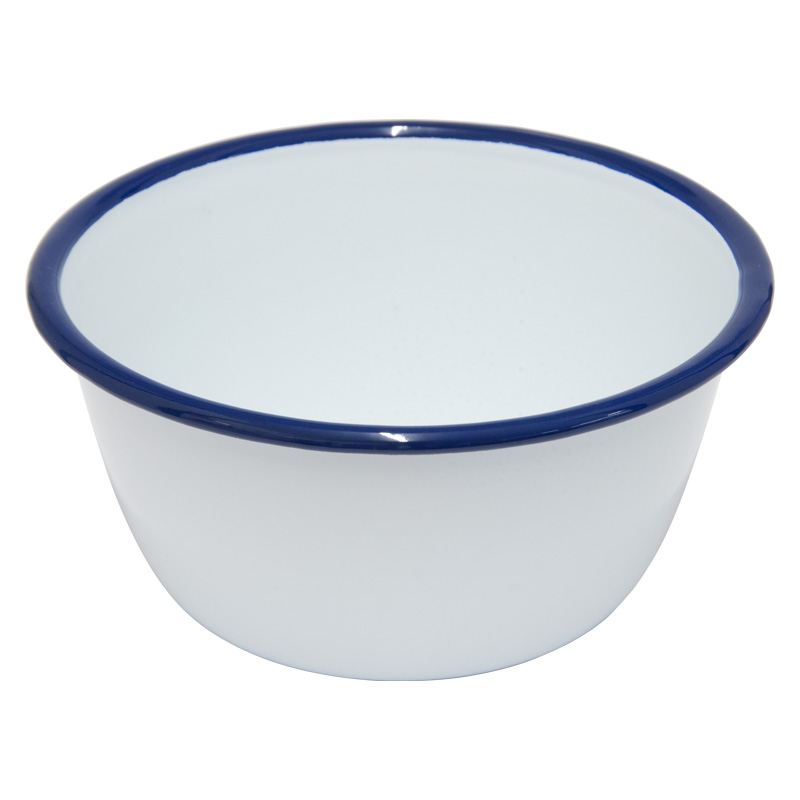 Falcon Enamelware White Pudding Basin, 14cm Diameter