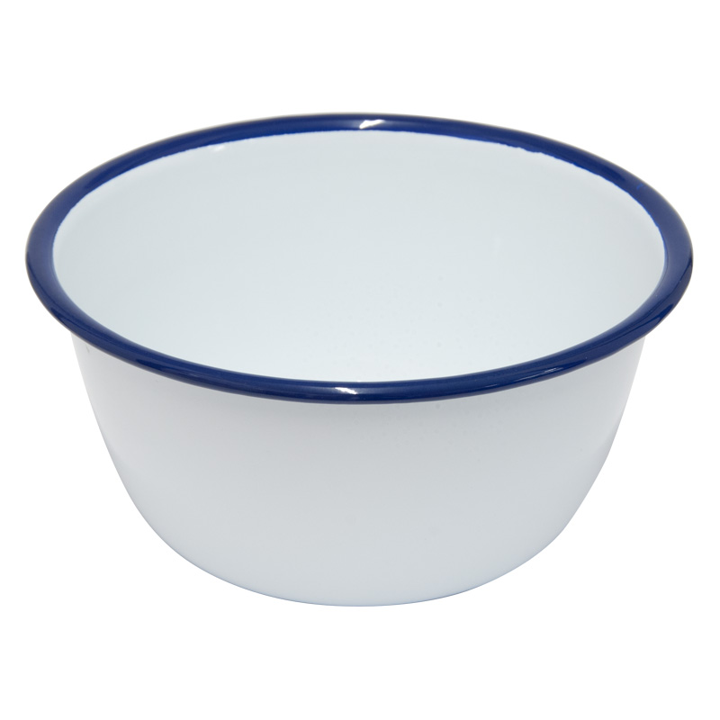 Falcon Enamelware White Pudding Basin, 16cm Diameter
