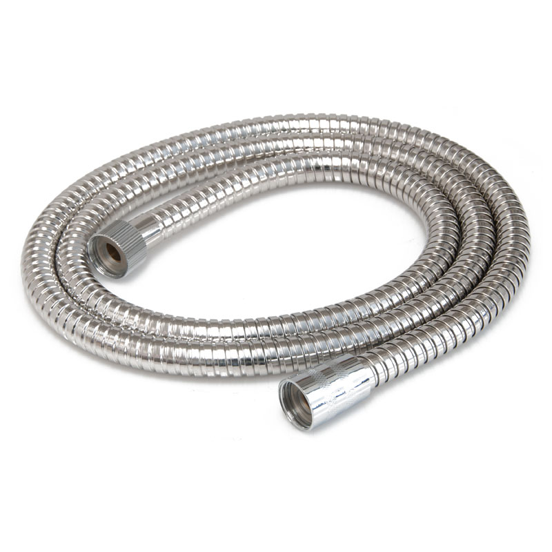 Showerdrape Double Spiral Chrome Shower Hose, 1.75m x 11mm