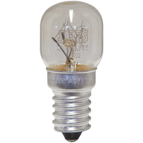 Oven Lamp Bulb Heat Resistant 15W 240V E14 Clear