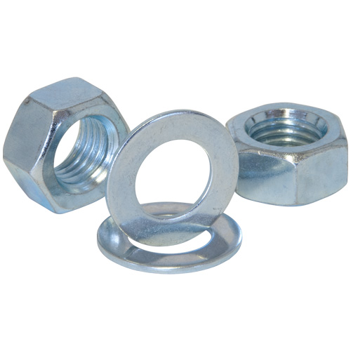 No. 1729 Zinc Plated 3/4 inch Whit Grade 4.8 Nuts & Washers x 2