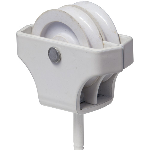 Screw in 1 3/4″ White Double Pulley (5237)