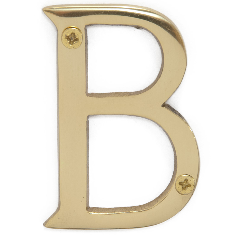Polished Brass 3 inch House Letter B (5811)