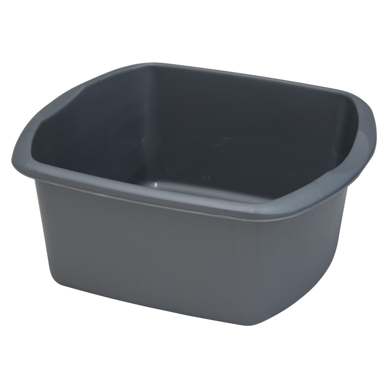 Addis Rectangular Washing-Up Bowl, 8 Litres, Silver Effect