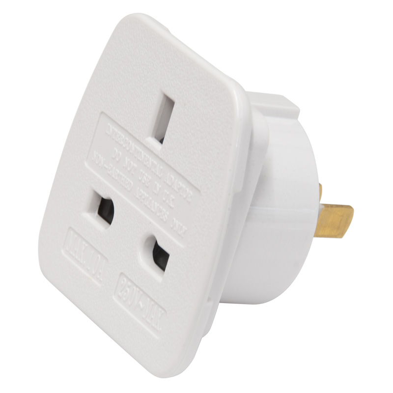 Jegs USA/AUS To UK Travel Adaptor (JF022S)