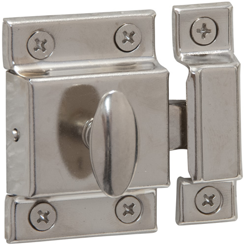 Chrome Plated Cupboard Turn Catch - Qty 1 (6069)
