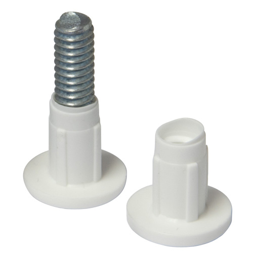 Cabinet Connector Screws White Pk4 (6152)