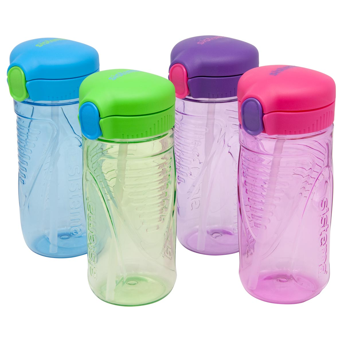 Sistema Hydrate Quick Flip Drink Bottle, 520ml, Assorted Colours