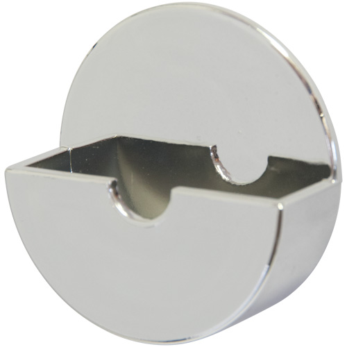 Self Adhesive Polished Chrome Plastic Plug Tidy (6353)