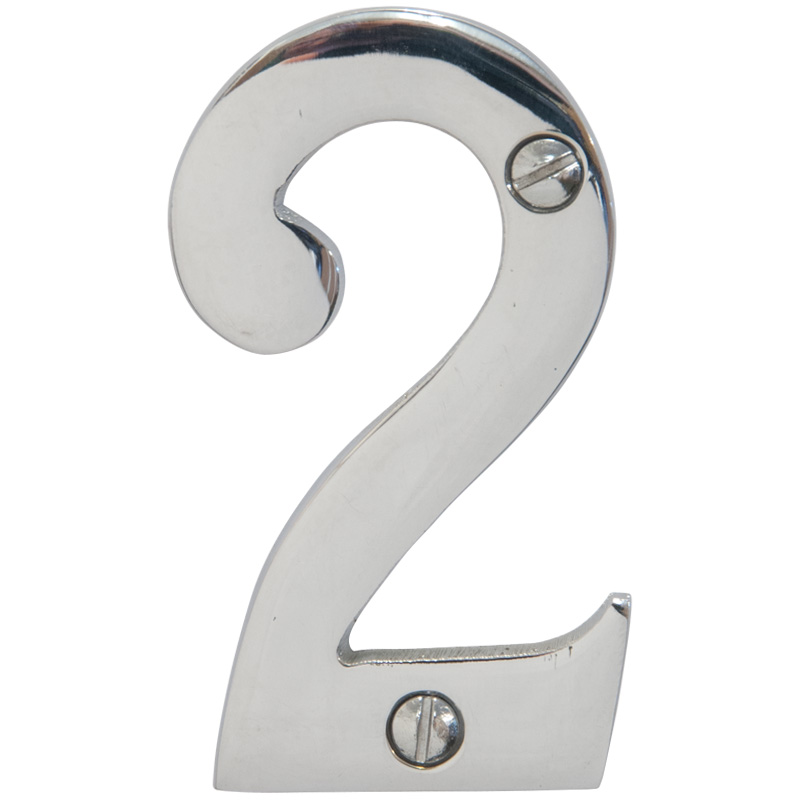 Chrome 3 inch House Number 2 (6742)