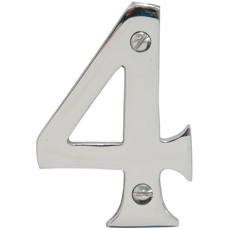 Chrome 3 inch House Number 4 (6744)