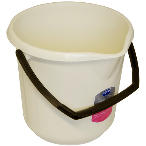 Addis Essentials 10 Litre Plastic Bucket - Linen Effect