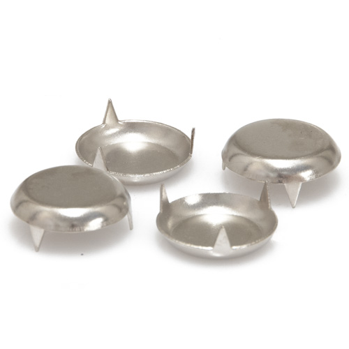 Nail On Nickel Plated Furniture Glides 25mm - Ave Qty 4 (6849)