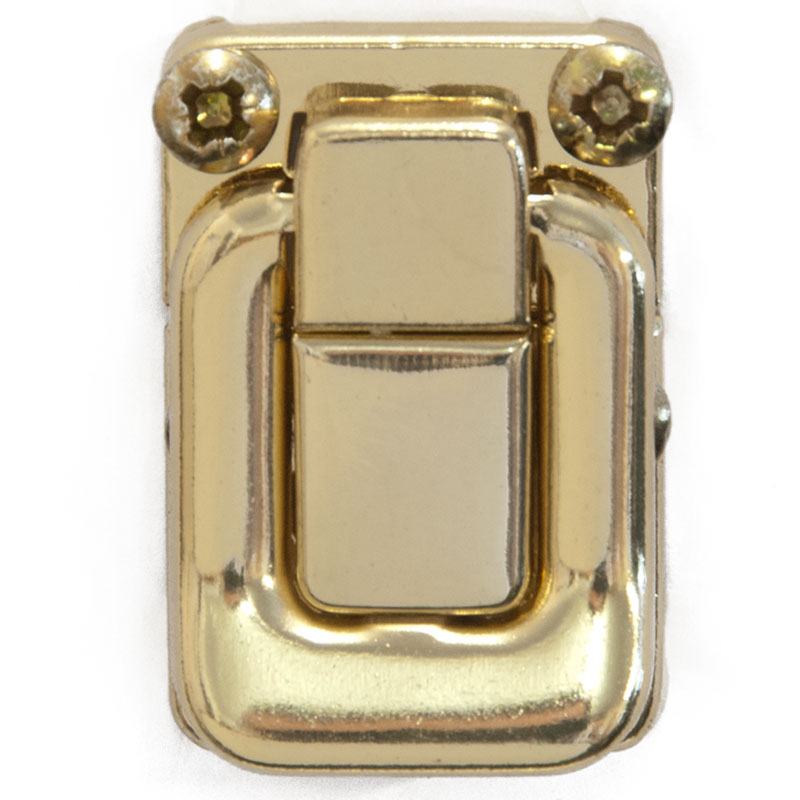 Brass Plated Case Catch 40mm x 27mm (7133) - Click Image to Close