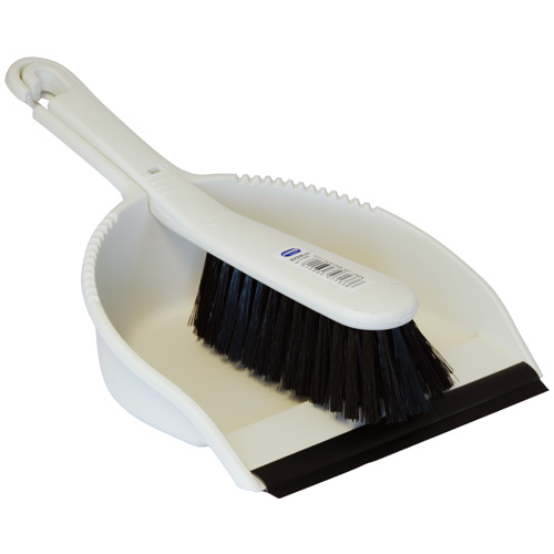 Addis Linen Dustpan And Stiff Brush Set