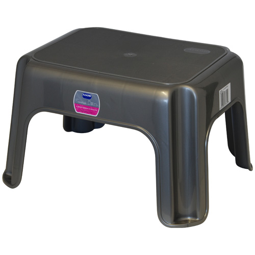Addis Step Stool - Metallic Silver