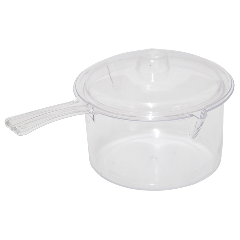 Easy-Cook Microwave Non Staining Saucepan With Lid, 600ml